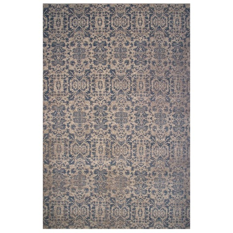 Vintage Collection Blue and Cream Ornamental Rug