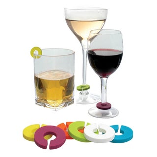 Epicureanist Multicolor Wine Glass Charms (Case of 24)