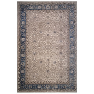 Vintage Collection Blue and Cream Floral Oriental Rug 5'x8'