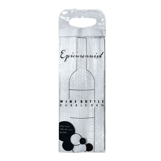 Epicureanist Clear Plastic Wine Bottle Bubble Bags (Pack of 12)