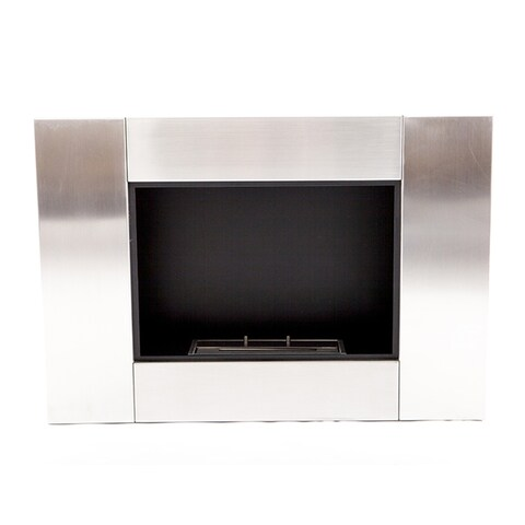 EcoPyro Helis Alpine Stainless-steel Wall-inserted Modern Ethanol Fireplace