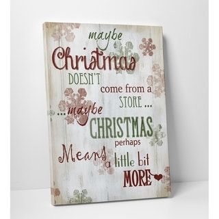 Wexford Home 'Christmas Means More' Typography Premium Gallery Wrapped Canvas Wall Art (12 x 16, 24 x 32, 30 x 40)