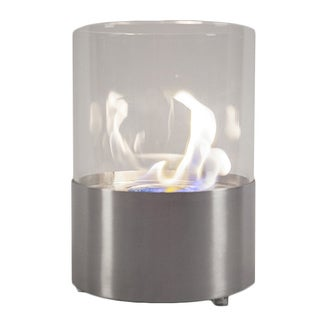 EcoPyro M1-SS Cannonsburg Stainless Steel 7-3/4-inch Table Ethanol Fireplace