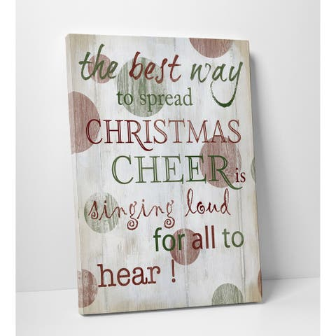 Christmas Cheer Type - Premium Gallery Wrapped Canvas - 3 Sizes Available - 12X16, 24x32, 30x40