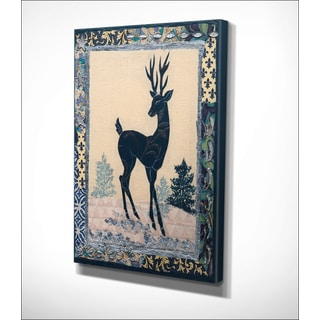 Wexford Home 'Deer Silhouette' 12-inch x 16-inch/24-inch x 32-inch/30-inch x 40-inch Premium Gallery-wrapped Canvas
