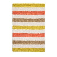 Jani Mustard Yellow/Ivory Cotton/Viscose Striped Rug - 8' x 10'