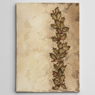 Holly Garland Premium Gallery-wrapped Canvas