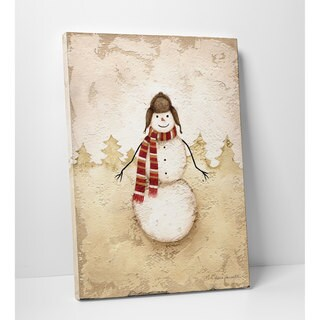 Vintage Snowman Premium Gallery Wrapped Canvas Art (12 x 16, 24 x 32, 30 x 40)