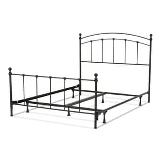 Sanford Complete Bed with Metal Duo Panels and Round Finial Posts