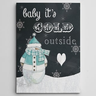 'Baby It's Cold Outside' Premium Gallery Wrapped Canvas