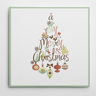 Christmas Tree Word Play Premium Gallery-wrapped Canvas