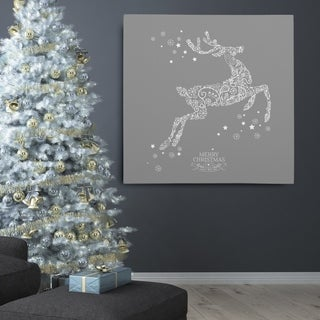 Holiday Reindeer' Stencil Premium Gallery Wrapped Canvas Artwork