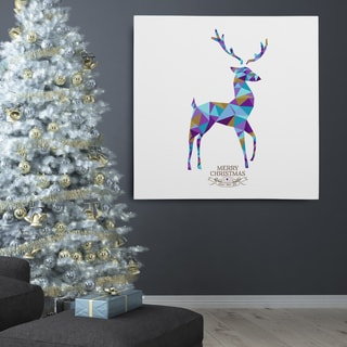 Wexford Home Kaleidoscope Holiday Reindeer Premium Gallery Wrapped Canvas