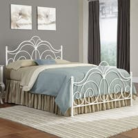Fashion Bed Group Rhapsody Metal Bed in Glossy White Finish
