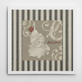 Wexford Home Carol Robinson 'Burlap Santa' Premium Gallery Wrapped Canvas