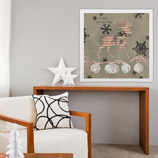 Wexford Home 'Burlap Reindeer' Premium Gallery Wrapped Canvas Wall Art (16 x 16, 24 x 24, 36 x 36)