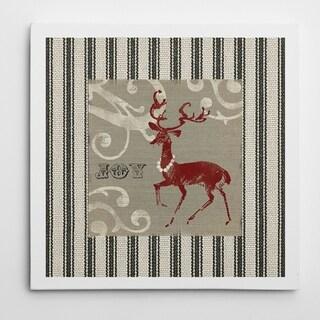 Carol Robinson 'Burlap Deer' Gallery Wrapped Canvas Wall Art