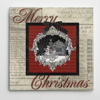 Carol Robinson 'Vintage Christmas Tree' Gallery Wrapped Canvas Wall Art