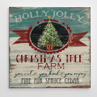 Wexford Home 'Ad: Christmas Tree Farm' 16-inch x 16-inch, 24-inch x 24-inch, 36-inch x 36-inch Gallery-wrapped Canvas Art