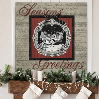 Wexford Home 'Vintage Greetings' 16-inch x 16-inch, 24-inch x 24-inch, 36-inch x 36-inch Gallery-wrapped Canvas