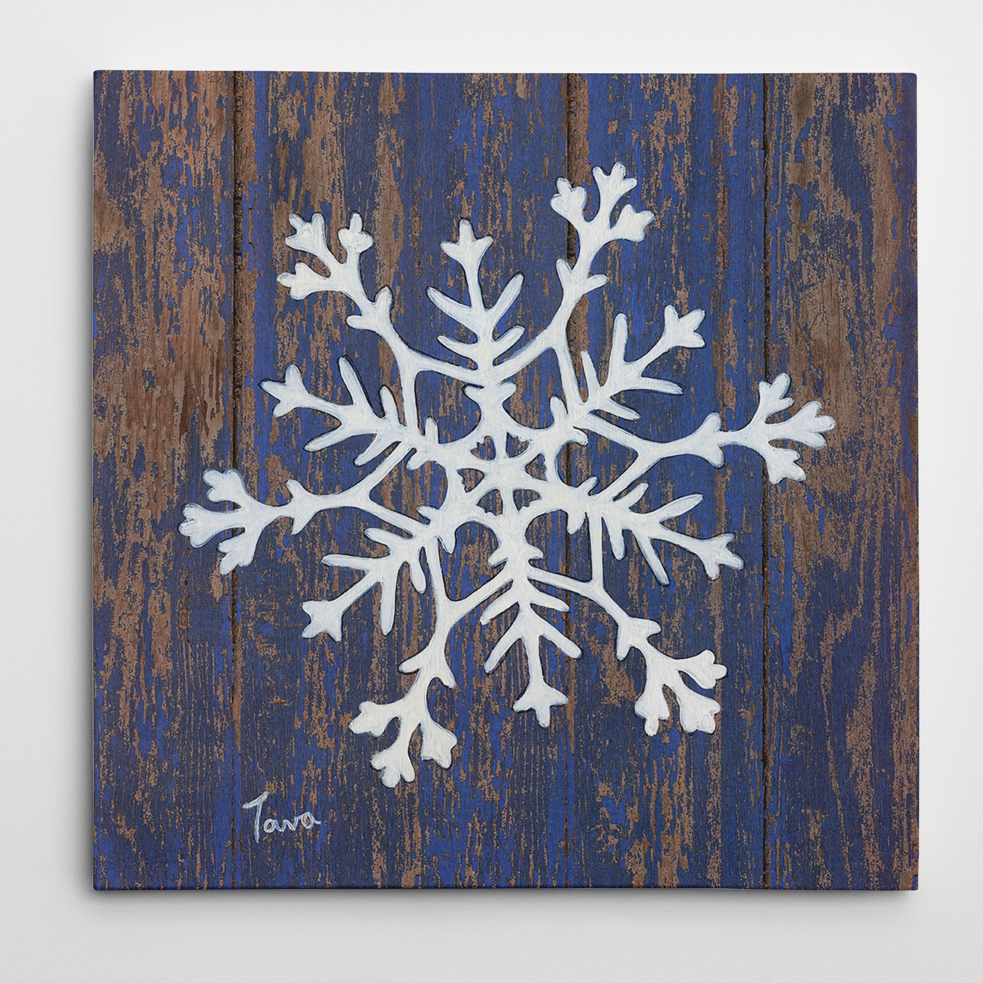 Wexford Home 'Stencil Snowflake' Gallery-Wrapped Art Prin...