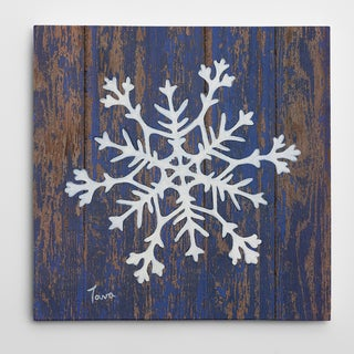 'Stencil Snowflake' Gallery-Wrapped Art Print