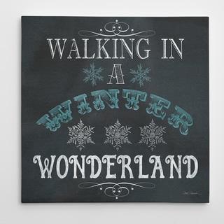 'Wonderland Type' Premium Gallery-wrapped Canvas