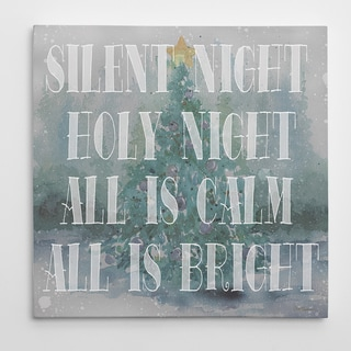 Wexford Home 'Silent Night' Premium Gallery Wrapped Canvas Wall Art (16 x 16, 24 x 24, 36 x 36)