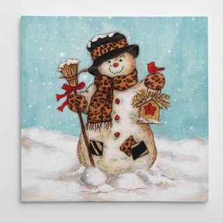 Wexford Home Eugene Tava 'Snowman' 16 x 16-inch/24 x 24-inch/36 x 36-inch Premium Gallery Wrapped Canvas
