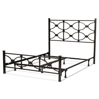 Marlo Complete Bed with Metal Panels and Squared Finial Posts