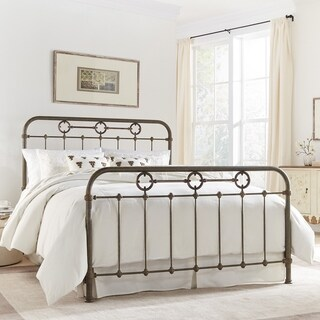 Fashion Bed Group Madera Metal Bed in Rustic Green Finish