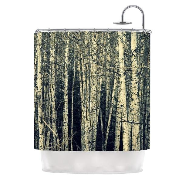 Kess InHouse Robin Dickinson Birch Beige Tan Shower Curtain