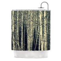 Kess InHouse Robin Dickinson Birch Beige Tan Shower Curtain