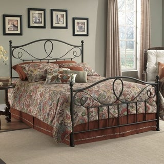 Sylvania Complete Bed with Metal Curved Grill Design and Canopy Compatibility