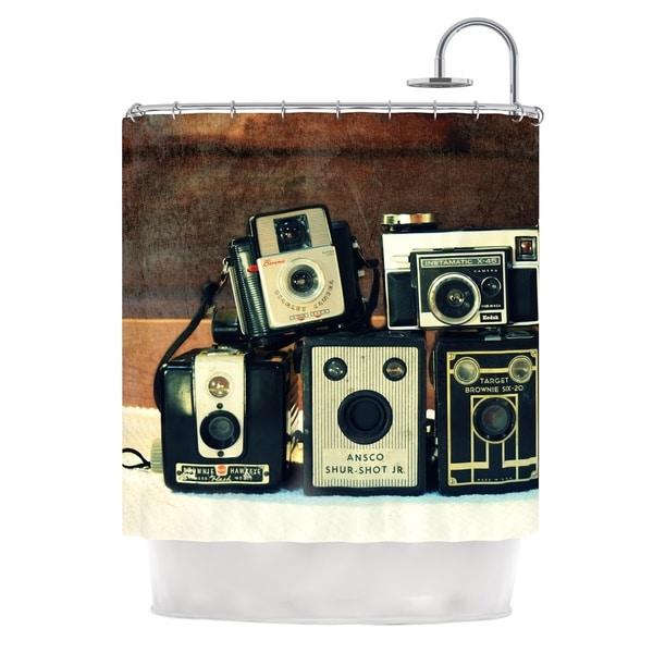 Kess InHouse Robin Dickinson Through The Years Vintage Camera Shower Curtain