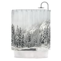 Kess InHouse Robin Dickinson Winter Wonderland White Gray Shower Curtain