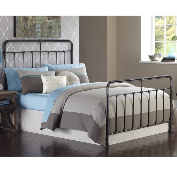 Fashion Bed Group Fairfield Metal Bed in Dark Roast Finish