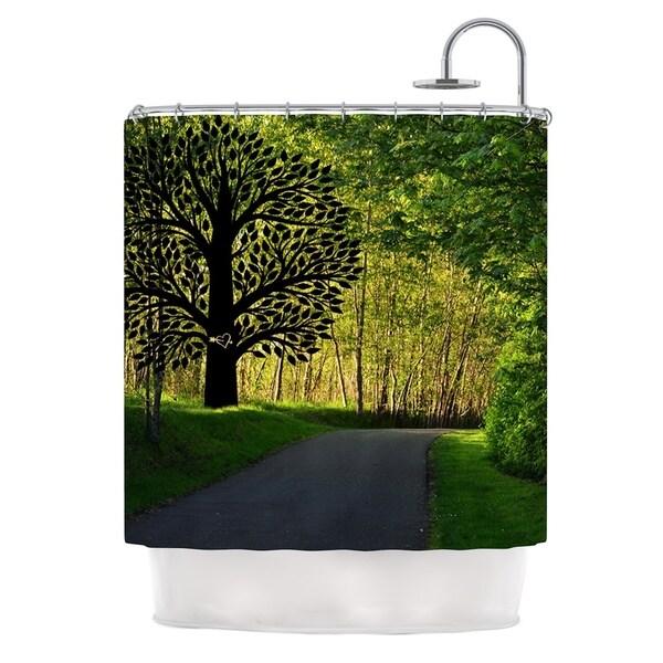 Kess InHouse Robin Dickinson Love Nature Forest Shower Curtain