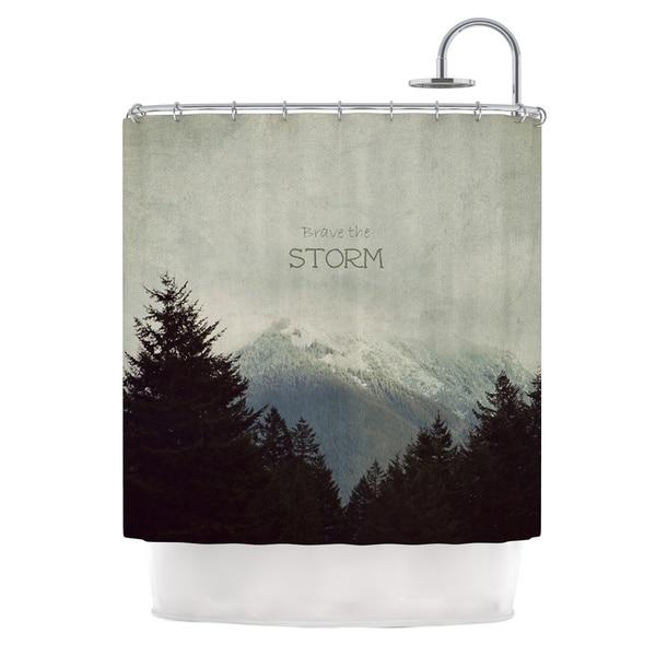 Kess InHouse Robin Dickinson Brave The Storm Snow Mountain Shower Curtain
