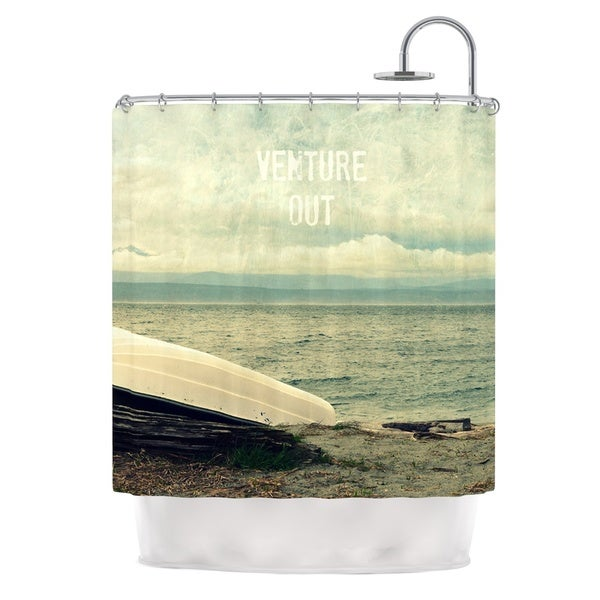 Kess InHouse Robin Dickinson Venture Out Boat Shower Curtain