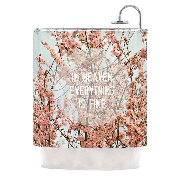 Kess InHouse Robin Dickinson in Heaven Cherry Blossom Shower Curtain