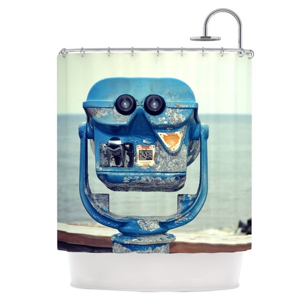 KESS InHouse Robin Dickinson Way Out There Ocean Shower Curtain (69x70)