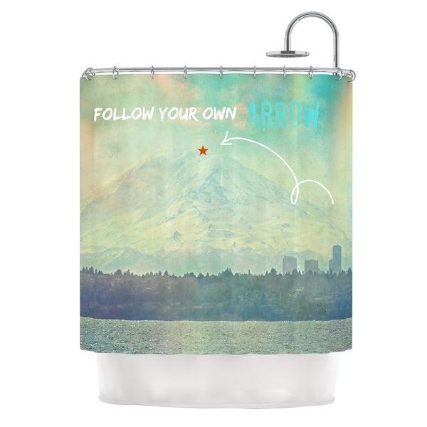 Kess InHouse Robin Dickinson Follow Your Own Arrow City Landscape Shower Curtain
