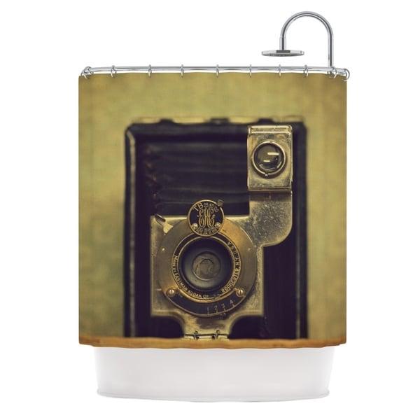 Kess InHouse Robin Dickinson Ekc Jan 1910 Brown Tan Shower Curtain