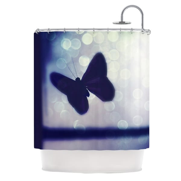 KESS InHouse Robin Dickinson Enchanted Lavender Butterfly Shower Curtain (69x70)