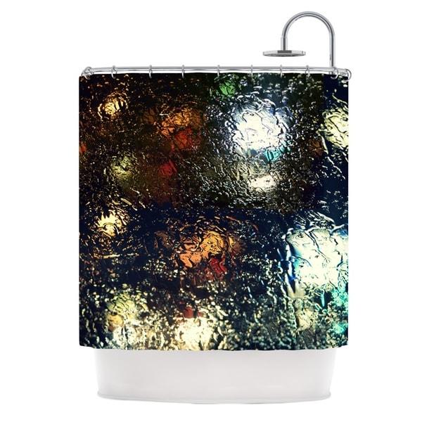 Kess InHouse Robin Dickinson Blinded Water Black Shower Curtain
