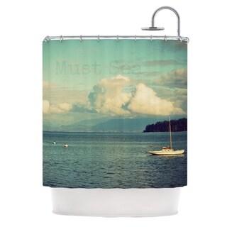 Kess InHouse Robin Dickinson Must Sea Ocean Shower Curtain