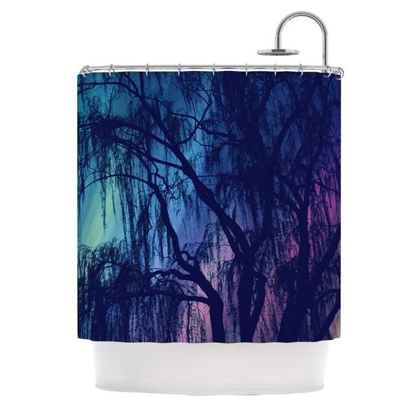 Kess InHouse Robin Dickinson Weeping Purple Tree Shower Curtain