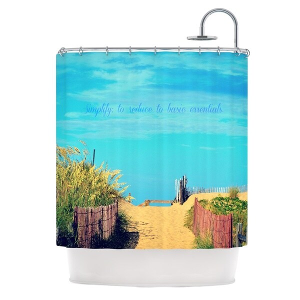 Kess InHouse Robin Dickinson Simplify Beach Sky Shower Curtain