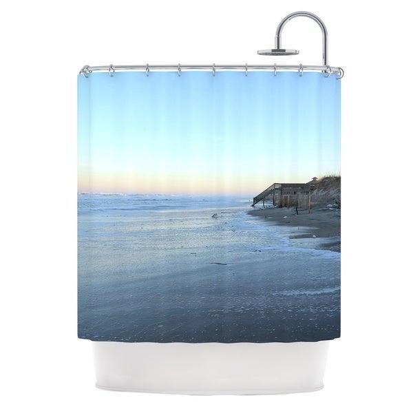 Kess InHouse Robin Dickinson Sand Surf Sunshine Beach Shower Curtain